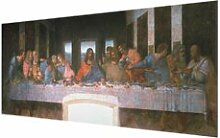 Glasbild Das Abendmahl von Leonardo Da Vinci