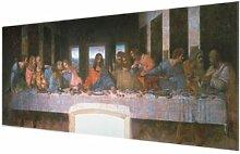 Glasbild Das letzte Abendmahl von Leonardo Da Vinci