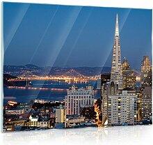 Glasbild Echtglas Glasfoto Wandbild DekoShop San