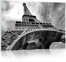 Glasbild Eiffelturm Brayden Studio Format: 40 cm x