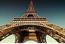 Glasbild Eiffelturm, Fotodruck Ebern Designs