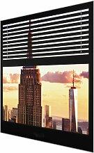Glasbild Empire State Building, New York East