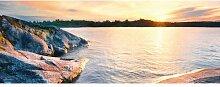 Glasbild Felsen Sonnenuntergang ModernMoments