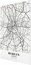 Glasbild Klassischer Berliner Stadtplan East Urban
