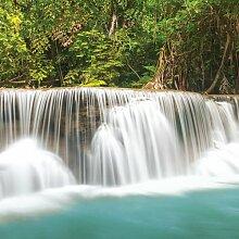 Glasbild Landschaft Wasserfal - Natur 17 Stories