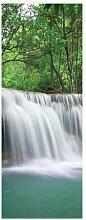 Glasbild Landschaft Wasserfall - Natur 17 Stories
