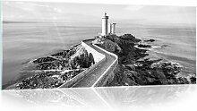 Glasbild Leuchtturm Longshore Tides Größe: 60,5