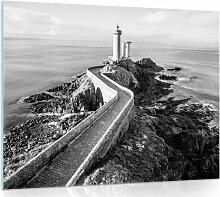 Glasbild Leuchtturm Longshore Tides Größe: 60 cm
