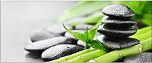 Glasbild Little Bamboo, Kunstdruck Sansibar Home
