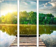 GlasbildLonely Lake II 17 Stories Größe: 80 cm