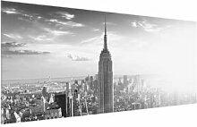 Glasbild Manhattan Skyline East Urban Home