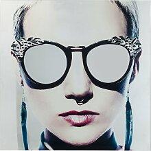 Glasbild Metallic Girlie KARE Design