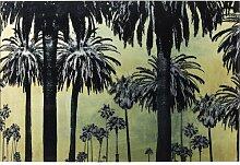 Glasbild Metallic Palms KARE Design