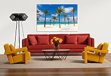 Glasbild Motiv Beach Wohnzimmer Modern querformat