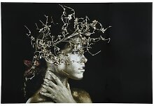 Glasbild Mujer Dorada Fotodruck Schuller