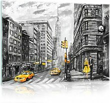 Glasbild New York 17 Stories