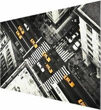 Glasbild New York City Cabs East Urban Home