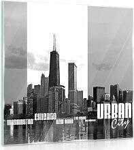 Glasbild New York ModernMoments Größe: 30 cm H x