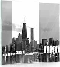 Glasbild New York ModernMoments Größe: 50 cm H x