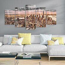 Glasbild New York Morgenhimmel Ebern Designs