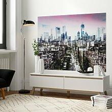 Glasbild NY Skyline in Braun KARE Design