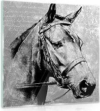 Glasbild Pferd Alpen Home Format: 40 cm H x 40 cm B