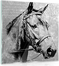 Glasbild Pferd Alpen Home