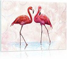 Glasbild Pink Flamingos Sansibar Home Format: 40