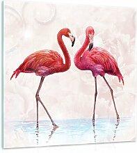 Glasbild Pink Flamingos Sansibar Home