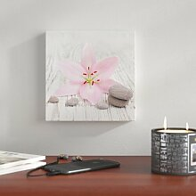 Glasbild Pink Line, Kunstdruck East Urban Home