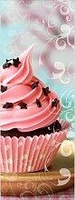 Glasbild Pink Muffin, Kunstdruck ModernMoments