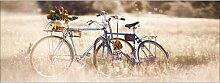 Glasbild Retro Bicycle, Kunstdruck ModernMoments