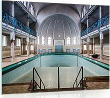 Glasbild Schwimmbecken
