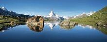 Glasbild See und Berge Brayden Studio