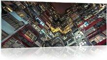 Glasbild Stadt Bei Nacht 17 Stories Größe: 60,5