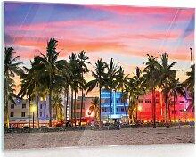 Glasbild Strand 17 Stories