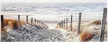 GLASBILD Strand & Meer