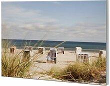 Glasbild Strandkörbe