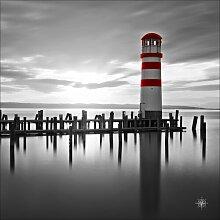Glasbild The Walk, Kunstdruck Longshore Tides