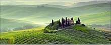 Glasbild Tuscany Twilight, Kunstdruck ModernMoments
