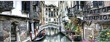 Glasbild Venedig III, Kunstdruck Brayden Studio
