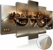 Glasbild Verlorene Stadt Ebern Designs Größe: