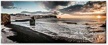 Glasbild Vik Haus am Meer