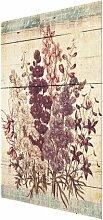 Glasbild Vintage-Blumenstrauß