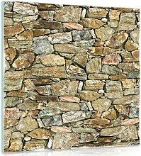 Glasbild Wand Alpen Home Größe: 30 cm H x 30 cm B