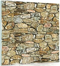 Glasbild Wand Alpen Home Größe: 40 cm H x 40 cm B