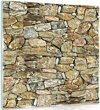 Glasbild Wand Alpen Home Größe: 50 cm H x 50 cm B
