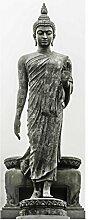 Glasbild Wandbild Glas Kunstdruck Buddha Statue 80