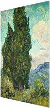 Glasbild Zypresse von Vincent van Gogh