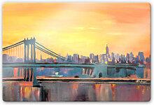Glasbilder - Glasbild Bleichner - Blue Manhattan